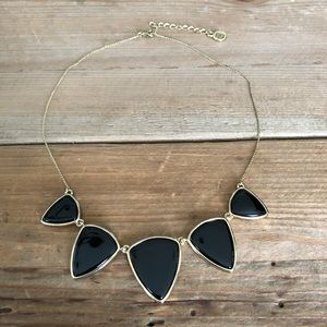 House of Harlow Black Enamel Necklace